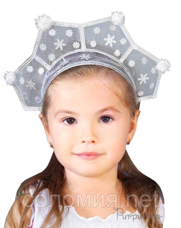 """Детский головной убор Коронка """"Снежинки"""""""