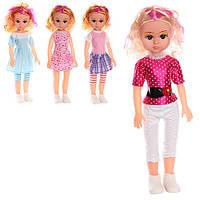 Кукла 0726-B1  41см, муз, 4 вида, в кульке, 18,5-47-8см Артикул: 0726-B1