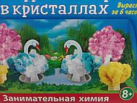 """Набор для творчества """"Лебединое озеро"""" в кристаллах (разноцветный)"""