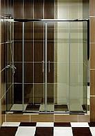 Душевые двери (душевые шторки, раздвижные) S-mix SM-2002 прозрачные/матовые 180*120