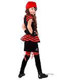 Детский костюм для девочки Пиратка красно-черная, фото 2