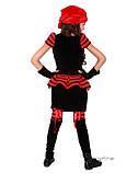 Детский костюм для девочки Пиратка красно-черная, фото 3