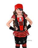 Детский костюм для девочки Пиратка красно-черная, фото 4