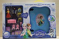 Замок принцессы Frozen, замок Эльзы, в книге-чемодане