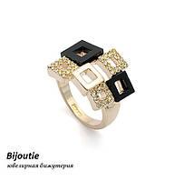 Кольцо МЭЙД ювелирная бижутерия золото 18к декор кристаллы Swarovski