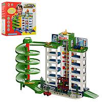 Мега паркинг! 6 уровней, лифт, эстакада, спиральный спуск, 4 машинки,игровой набор паркинг, парковка