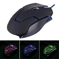 Компьютерная мышь FC-5215 оптическая, проводная, светодиодные, изменение цвета, USB, 6 кнопок, Max 3200 DPI