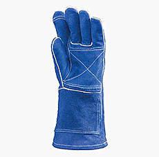 Перчатки рабочие крага сварщика усиленная Евро, фото 2
