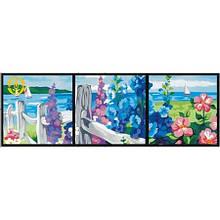 Картина триптих по номерам Цветущая изгородь
