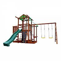 Детский игровой комплекс для дачи Babyland-9 (горка, скалолазка, песочница, качели, кольца...) ТМ SportBaby