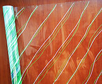 """Пленка с рисунком """"Диагональ зеленая"""" (60 см; 400 г)"""