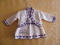 Комплект из платья с кофточкой вязанные
