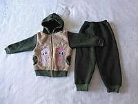 Костюм детский из кофточки с капюшоном и штанишек (с начесом)