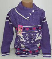 Свитер с поясом для девочки 3-5 лет