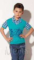 Рубашка с футболкой летняя для подростка