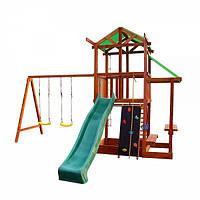 Игровой деревянный детский комплекс для улицы Babyland-7 ТМ SportBaby (игровая детская площадка)