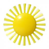 """Игрушка для ванной """"Плюи Щетка-Солнце"""" для детей от 2 лет (9 см) ТМ Moluk Желтый 43070"""