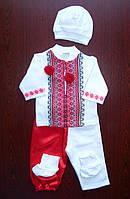 Крестильный набор для мальчика Праздничная одежда Костюмы для мальчиков Фото Красный, фото 1