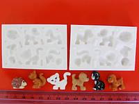 Молд для мастики силиконовый Животные 3D