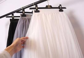 Пышная фатиновая юбка на резинке