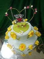"""Торт """"Мишки Тедди на качелях"""""""