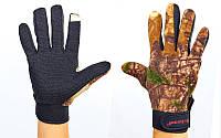 Перчатки флисовые для рыбалки BC-4920-L камуфляж