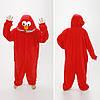 Пижама кигуруми Cookie Monster красный и голубой, фото 2