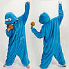 Пижама кигуруми Cookie Monster красный и голубой, фото 3