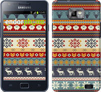 "Чехол на Samsung Galaxy S2 i9100 Рождественский орнамент ""3303c-14"""