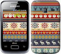 """Чехол на Samsung Galaxy Y Duos S6102 Рождественский орнамент """"3303u-251"""""""