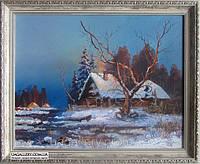 Зимний пейзаж картина маслом. Картины художников