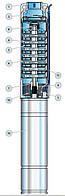 Скважинный насос Pedrollo 4SR 6/17 (6 м3/ч 79 м)