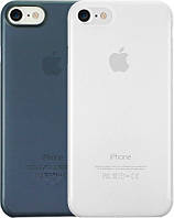 OZAKI  O!coat 0.3 Jelly 2 in 1 case for iPhone 7 Clear and Dark Blue (OC720CD)