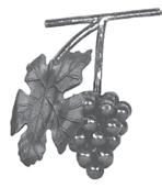 Гроздь винограда кованая 200х85 мм