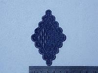 Аппликация джинсовая термоклеевая  10 шт.