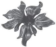 Кованый цветок 160х3