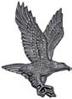 Кованая накладка- Орел 220х145х12