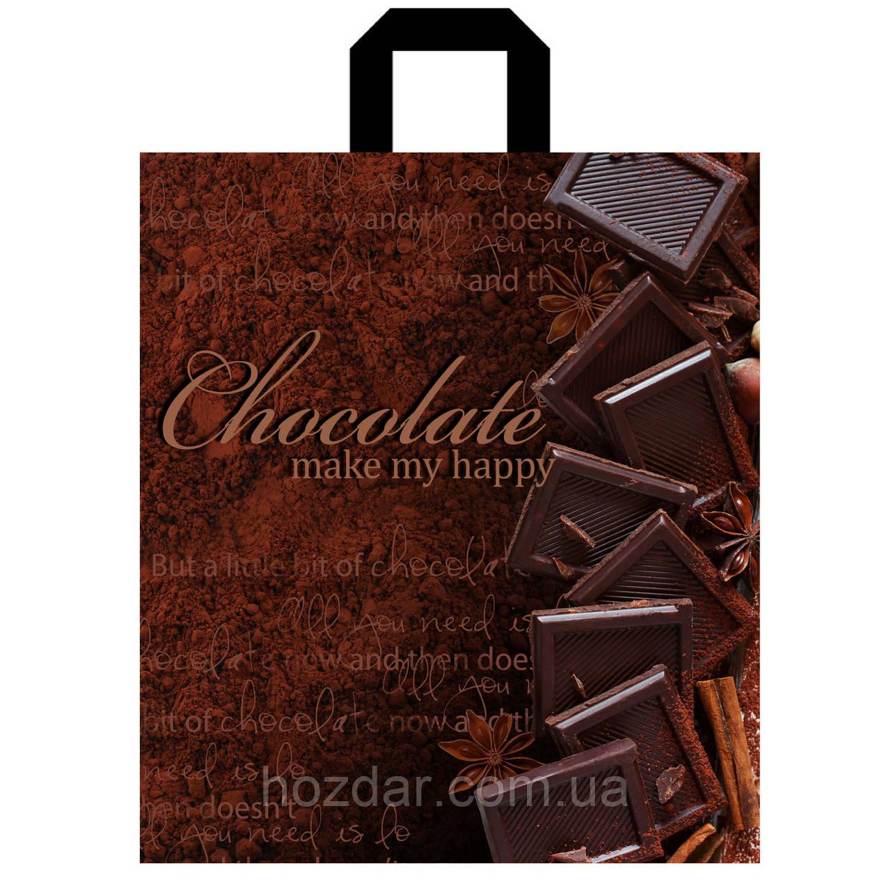 """Пакет с петлевой ручкой """"Темный шоколад"""" 40х43см."""