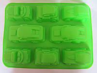 Силиконовая формочка «Машинки», 33*24,5*4,5 см., 115/105  (цена за 1 шт. + 10 гр.), фото 1