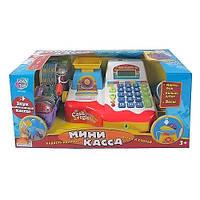 Игрушечная касса 7162 Joy Toy со сканером, весами, микрофоном, свет/звук, корзина с продуктами, деньги