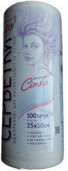 Салфетки Etto, 25х30 см, рулон с перфорацией, белые, сетка, 100 шт