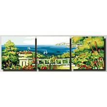 Триптих по номерам Терасса на берегу моря