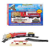 Интерактивная железная дорога игрушка для детей «Голубой вагон» 7013 (609) Metr+, длина путей 282 см