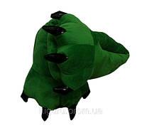Тапочки зеленые в виде лапок