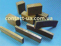 Сегменты алмазные для напаивания на пилы для резки камня (гранита).