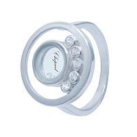 Оригинальное кольцо с круглой вставкой в стиле Chopard