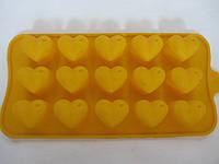 Силиконовая формочка для льда, конфет «Сердечки», 80/70 (цена за 1 шт. + 10 гр.), фото 1