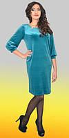Лаконичное женское платье большого размера