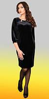 Классическое черное платье с 3/4 рукавчиком