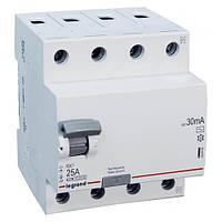 Дифференциальное реле Legrand RX3 30mA 40А 4P AC 402063